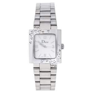 ساعة يد نسائية ديور ريفا D98-1014 ألماس ستانلس ستيل فضية 24.50 مم