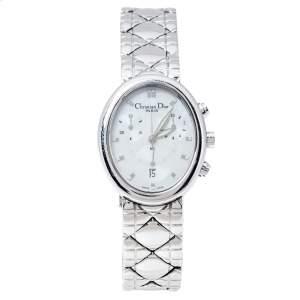 ساعة يد نسائية كريستيان ديور كرونوغراف D88-100 ستانلس ستيل صدف 29 مم