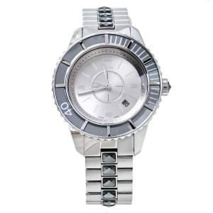 ساعة يد نسائية ديور سي دي113116 شريستال كريستال رمادية فضية 33مم