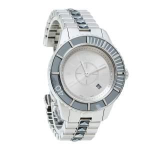 ساعة يد نسائية ديور سي دي113116 شريستال كريستال رمادية 33مم