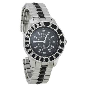 Dior Black Diamonds Stainless Steel Christal CD113115M001 Quartz Women's Wristwatch 34 MM