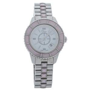 Dior Mother of Pearl Stainless Steel Christal CD113114 Women's Wristwatch 34 mm
