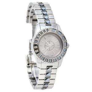 Dior Grey Stainless Steel Diamonds Christal CD112115M001 Women's Wristwatch 29 mm