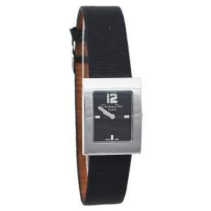 ساعة يد نسائية ديور ماليس دي108-109 ستانلس ستيل أسود 29 مم