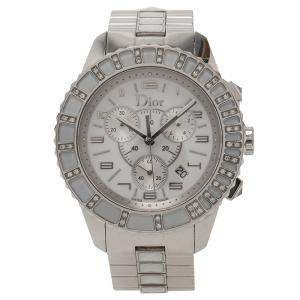 Dior White Stainless Steel Christal Women's Wristwatch 38MM