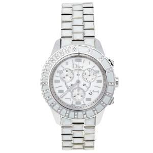 Dior White Stainless Steel Diamonds Christal CD114311M001 Women's Wristwatch 38 mm