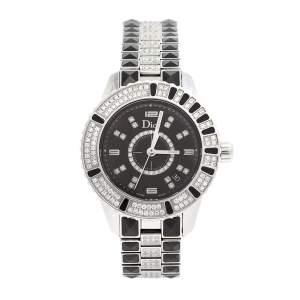 ساعة يد نسائية ديور كريستال CD11311D ستانلس ستيل سيراميك سوداء 33مم