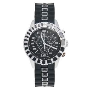 Dior Black Stainless Steel Rubber Christal CD11431ER001 Men's Wristwatch 38 mm