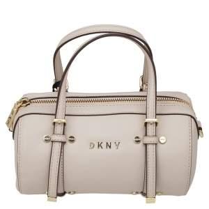 DKNY Beige PVC Small BO Duffel Bag