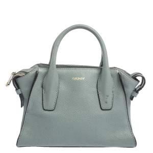 DKNY Pale Blue Leather Chelsea Satchel