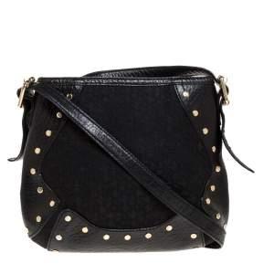 Dkny Black Canvas and Leather Crossbody Bag