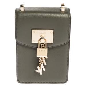 Dkny Fatigue Leather Elissa North South Crossbody Bag