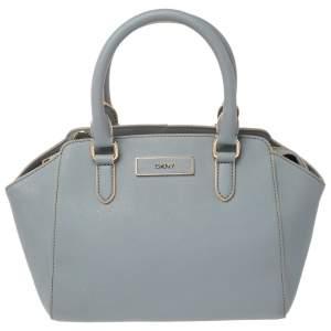 Dkny Blue Leather Chelsea Satchel
