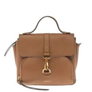 Dkny Brown Pebbled Leather Crossbody Bag