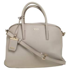 DKNY Cream Leather Satchel