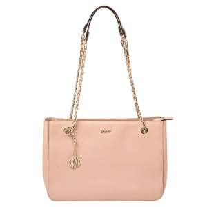 Dkny Pink Leather Bryant Park Chain Tote