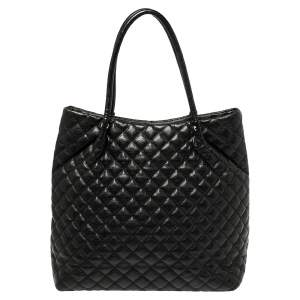 Dkny Black Quilted Leather Tote