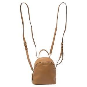 حقيبة ظهر دي كي إن واي ميني غرينيتش جلد بني
