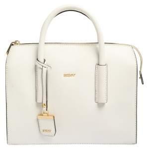 Dkny White Leather Satchel