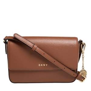 Dkny Tan Leather Bryant Park Crossbody Bag