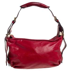 Dkny Red Leather Hobo