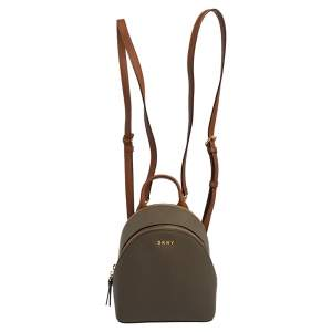 Dkny Taupe Leather Mini Bryant Park Backpack