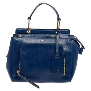 Dkny Blue Leather Greenwhich Top Handle Bag