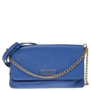 Dkny Blue Leather Bryant Park Shoulder Bag