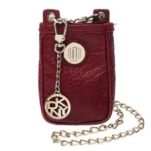 Dkny Red Leather Chain iPhone Case