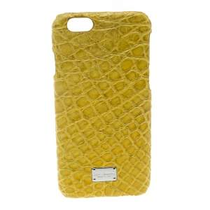 Dolce & Gabbana Yellow Croc Embossed iPhone 6/6S Case