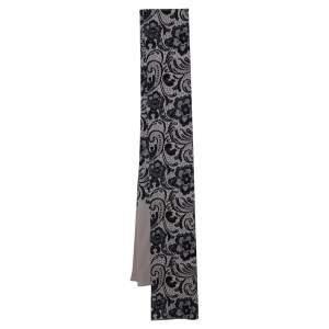Dolce & Gabbana Beige Lace Printed Silk Scarf