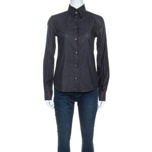 Dolce & Gabbana Charcoal Grey Button Front Shirt S