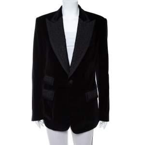 Dolce & Gabbana Black Velvet Casino Tuxedo Jacket L