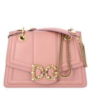 Dolce & Gabbana Blush Pink Leather DG Amore Bag