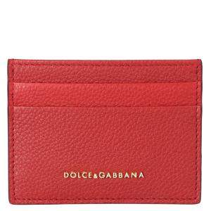 Dolce & Gabbana Red Leather Card Case