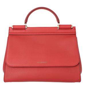 Dolce & Gabbana Hot Pink Leather Sicily Shoulder Bag