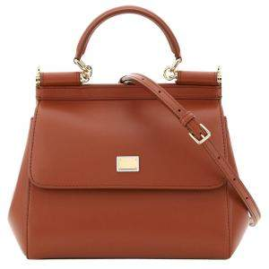 Dolce & Gabbana Brown Leather Small Sicily Shoulder Bag