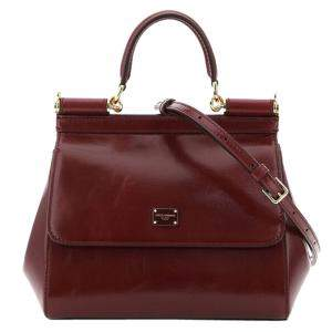 Dolce & Gabbana Red Leather Sicily Small Bag