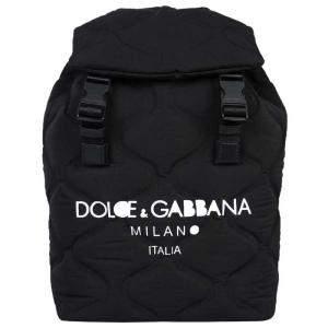 Dolce & Gabbana Black Nylon Palermo Tecnico Logo-print Backpack Bag
