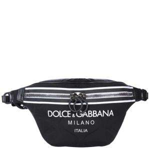 Dolce & Gabbana Black Nylon Palermo Tecnico Belt Bag