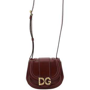 Dolce & Gabbana Brown Leather Dg Amore Bag