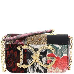 Dolce & Gabbana Multicolor Patchwork Fabric and Ayers DG Girls Bag