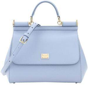 Dolce & Gabbana Blue Leather Medium Sicily Bag