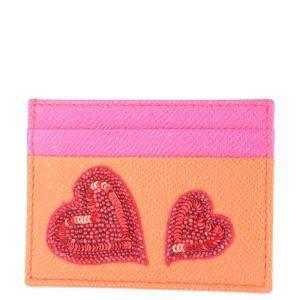 Dolce & Gabbana Pink/Orange Forever Love Card Holder