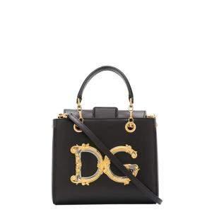 Dolce & Gabbana Black Dg Girls Small Tote Bag