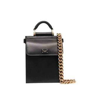 Dolce & Gabbana Black Mini Sicily 58 Bag