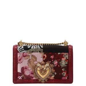 Dolce and Gabbana Multicolor Devotion Patchwork Shoulder Bag