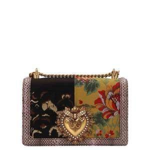 Dolce & Gabbana Multicolor Patchwork Devotion Shoulder Bag