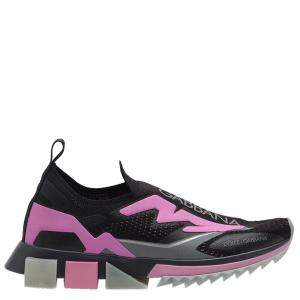 Dolce & Gabbana Black Sorrento Logo Sneakers Size 38.5