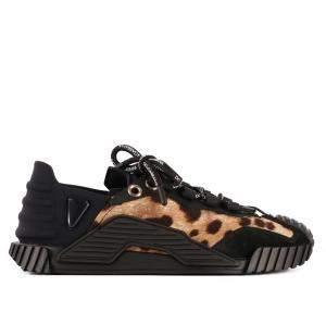 Dolce & Gabbana Leopard-print Cotton Ns1 Slip-on Sneaker Size 40